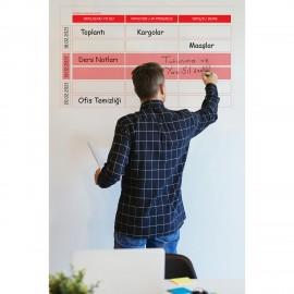 Kanban Planlayıcı Akıllı Kağıt Tahta Yazı Tahtası 100x52 cm