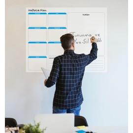 Haftalık Takvim Planlayıcı Akıllı Kağıt Tahta Yazı Tahtası 70x56cm