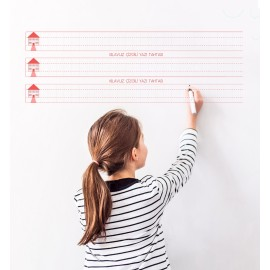 Kılavuz Çizgili Akıllı Kağıt Yazı Tahtası 110x56 Cm