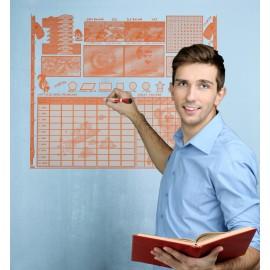 Öğrenci Planlayıcı Akıllı Kağıt Tahta Yazı Tahtası 120x100 Cm
