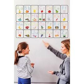 Türkçe Alfabe Tablosu Alfabe Harfleri Kağıt Tahta Ilkokul Eğitim Yazı Tahtası 105x70 Cm Kalem Hediyeli