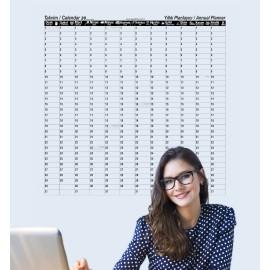 2021 Yıllık Planlayıcı Takvim Akıllı Kağıt Tahta Yazı Tahtası Zaman Sınırlaması Olmayan 100x100cm