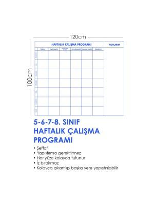 Haftalık Ders Çalışma Programı Akıllı Kağıt Tahta Yazı Tahtası 120x100 Cm Kalem Hediyeli