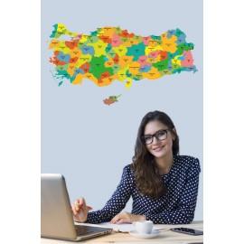 Türkiye Haritası Akıllı Kağıt Tahta Yazı Tahtası Özel Baskı Renkli Ve Yazı Tahtası Kalemi