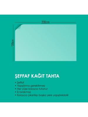 2 Adet Şeffaf Akıllı Kağıt Tahta 120x200 Cm Şeffaf Yazı Tahtası Kalem Hediye