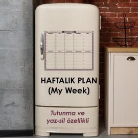 Mini Haftalık Takvim Planlayıcı Akıllı Kağıt Tahta Yazı Tahtası 40x50 cm